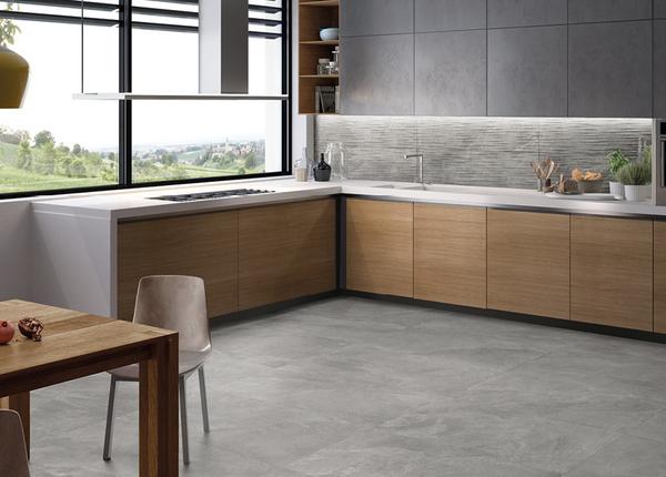 灰色大理石厨房防滑瓷砖