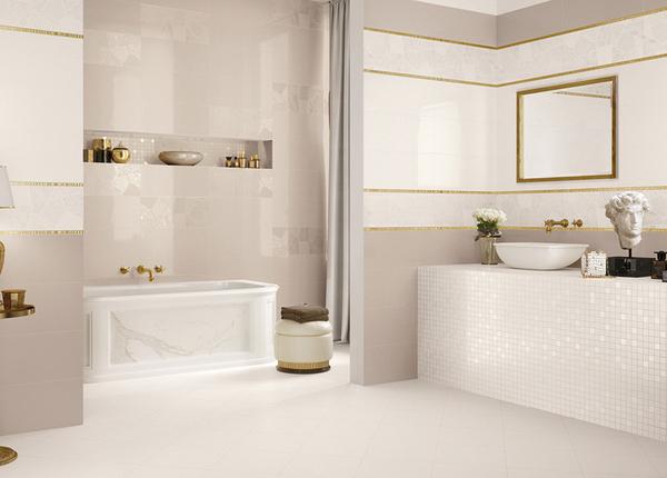 米白色卫生间防滑地砖