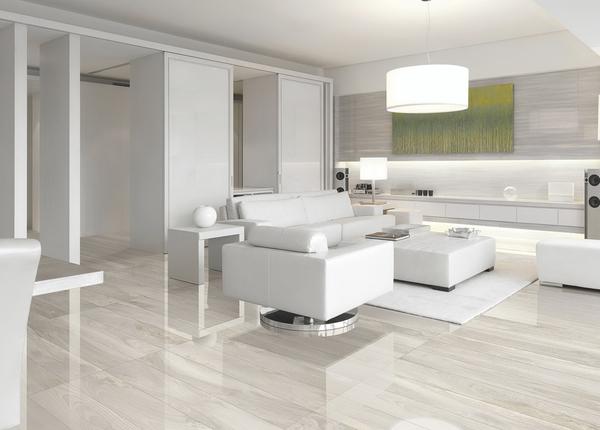 灰白色木纹客厅防滑地砖