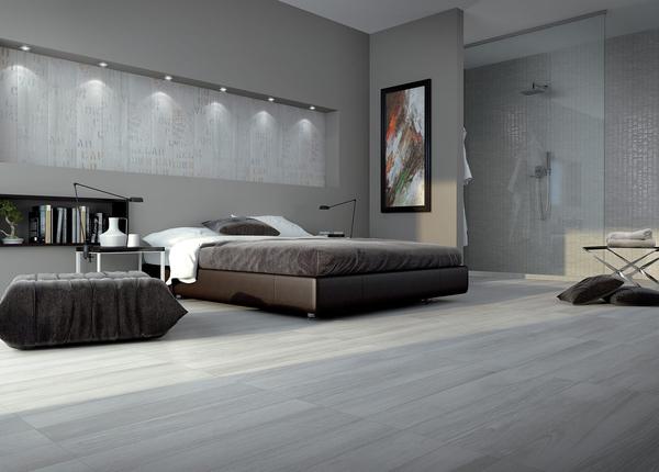 灰色木纹卧室防滑地砖